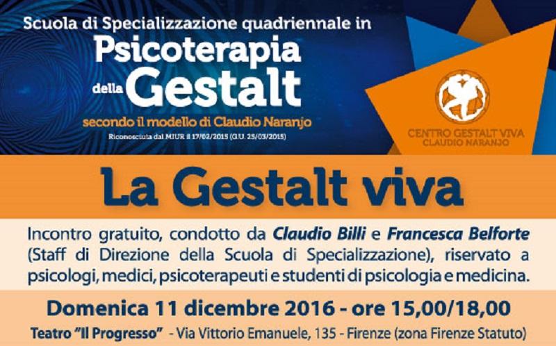 LA GESTALT VIVA. Incontro a Firenze con Claudio Billi e Francesca Belforte