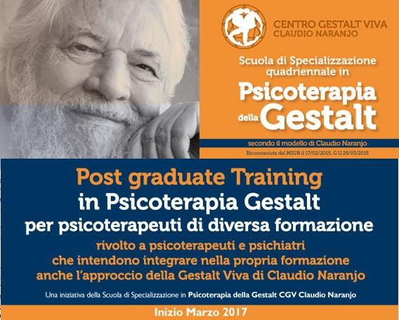 POST GRADUATE TRAINING rivolto a Psicoterapeuti di diversa formazione e a Psichiatri (PROSSIMO INIZIO 4 MARZO 2017)
