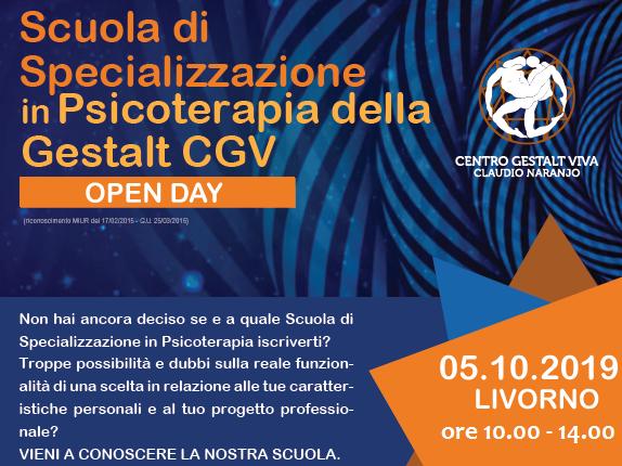 OPEN DAY Scuola di Psicoterapia della Gestalt Viva - Livorno: sabato 5 OTTOBRE 2019
