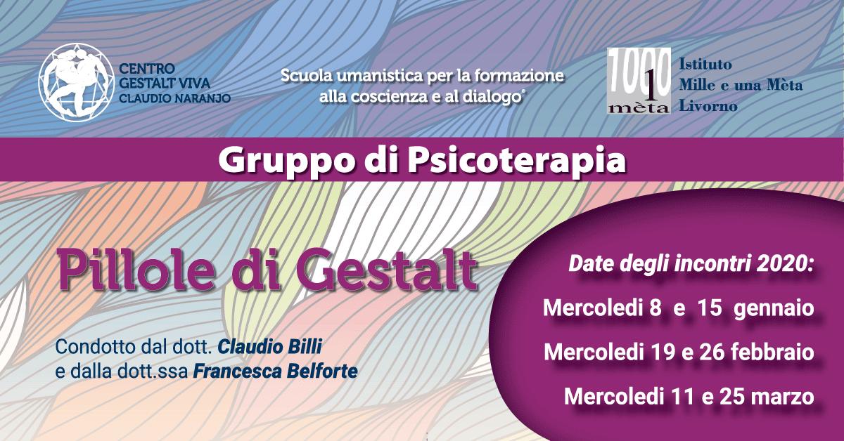 Pillole di Gestalt: psicoterapia di gruppo a Livorno