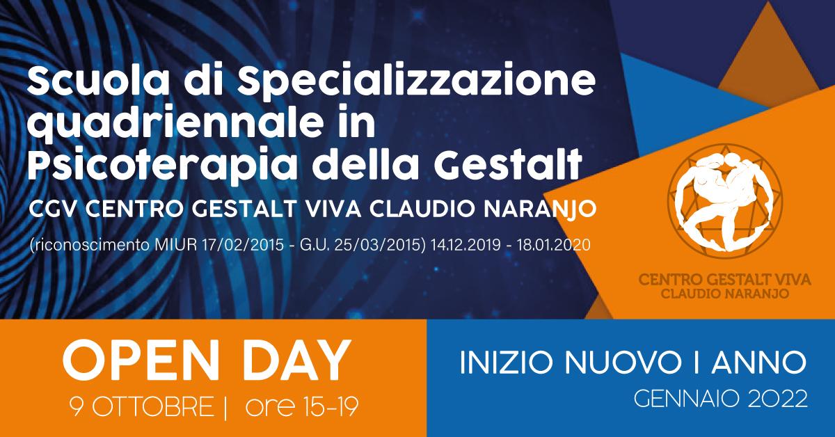 Il 9 ottobre l'Open Day per il nuovo I anno della Scuola di Specializzazione in Psicoterapia della Gestalt viva